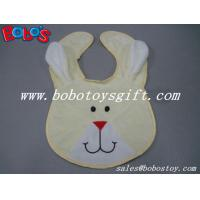 Buy cheap 13Wholesale Baby Items Plush Embroidery Beige Rabbit Baby Bibs from wholesalers