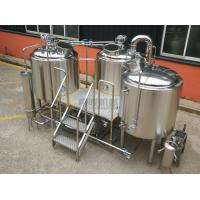 Buy cheap Three vessels 304/316 stainless steel 7 BBL Micro beer brewery equipment from wholesalers