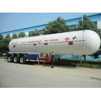 Buy cheap Heavy Duty LPG Tank Semi Trailer Three Axle 55cbm Volume 1 - 10 Mpa Pressure from wholesalers
