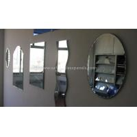 Buy cheap Double Coated Paint Aluminium Glass Mirror , Decorative Bathroom Mirror With Shelf from wholesalers