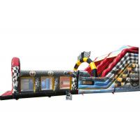 Buy cheap Race Car Theme Large Inflatable Slide For Kids And Adult With Obstacle Part from wholesalers