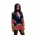 Buy cheap Africa Printed Dashiki Jacket Lady Fashion African Ladies Jackets Traditional Batik Prining from wholesalers