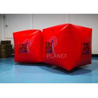Buy cheap Red PVC Tarpaulin 1.5M Inflatable Water Floating Buoy  Cube / Square Shape With Logo from wholesalers