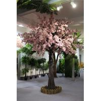 Buy cheap China artificial plastic indoor flower trees cherry peach pink blossoms for wedding decoration from wholesalers
