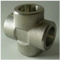 Buy cheap Cross Tee Forged Steel Fittings, ASTM B564 Nickel Alloy flangeolet , weldolet , reduce tee , elbow , cap , tee product
