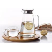 Buy cheap Heat-resistant glass teapot Thickened cold water bottle jug Large-capacity glass pot with lid from wholesalers