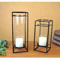 Buy cheap cuboid metal candle holder set of two for home decoration from wholesalers