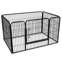 Buy cheap FEANDREA Heavy Duty Metal Dog Crate Enclosure Exercise Panel Black Color from wholesalers