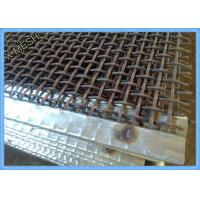 Buy cheap 65mn Steel Mining Screen Mesh , Hooked Vibrating Rock Screen Galvanized 1.5m X 2m from wholesalers