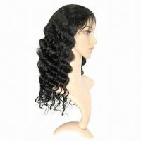 Buy cheap Fashionable Full Swiss Lace Wig, Deep Body Wave in 1b# Color, Various Colors/Styles are Available from wholesalers