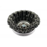 Full Cable Two Rows Twisted 6 Inch Wire Cup Brush / Angle Grinder Wire Wheel Brush