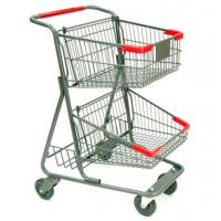 Buy cheap Two-tier shopping cart separates goods respectively from wholesalers