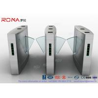Buy cheap Flap Barrier Gate Organic Glass Retractable RFID Card Reader Counter Speed Gate from wholesalers