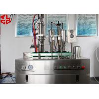 Buy cheap Semi- Automatic Bag On Valve Aerosol Spray Filling Machine PLC Controlled High Output from wholesalers