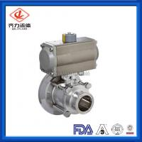 Buy cheap Hygienic Thread Tank Bottom Ball Valve With Aluminum Pneumatic Actuator from wholesalers