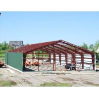 Buy cheap Double Span Steel Building Frame , Industrial Steel Framed Buildings With H Type Columns / Beams from wholesalers