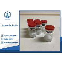 Buy cheap Sermorelin Acetate Human Growth Hormone Anti Aging CAS 86168-78-7 For Adults from wholesalers