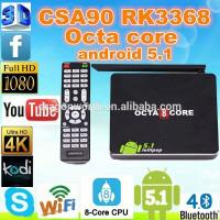 Buy cheap Android 5.1 CSA90 H.265 TV Box Indian IPTV Octa Core Arabic 16 Bits from wholesalers