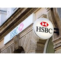 Buy cheap LED Customizable Vacuum Forming Acrylic Circle Lightbox Signage For HSBC Bank from wholesalers