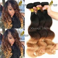 Buy cheap Brazilian Body Wave Virgin Hair Real Human Hair Extension Ombre Hair Wth Closure from wholesalers