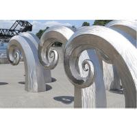 Buy cheap Public Art Large Metal Wave Sculpture , Outdoor Abstract Steel Sculpture product