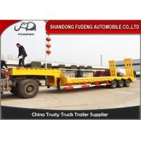Buy cheap Heavy duty 3 axles spring ramp low loader truck trailer for sale from wholesalers