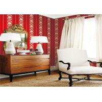 Buy cheap Custom Red Damask Wallpaper , Fashion Vinyl Home Decor Wallpaper 0.53*10m Size from wholesalers