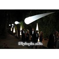 Buy cheap 3m Hanging Party and Wedding Decoration Inflatable Light Cone for Dinner Night product