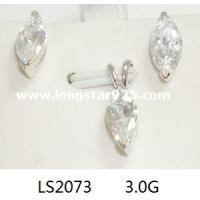 Buy cheap 925 silver one cz set small set, one cz earring one cz pendant from wholesalers