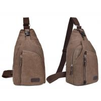Buy cheap New Vintage Canvas Chest Pack Fashion Men Messenger Bags Casual Travel Casual Male Small Retro Shoulder Bag from wholesalers