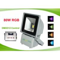 Buy cheap Outdoor Colorful 80w RGB LED Flood Light with DMX512 Control , RGB LED Landscape Lighting from wholesalers