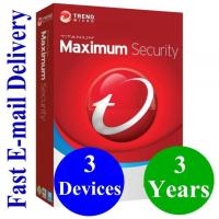 Buy cheap Antivirus Software Computer Software System Digital Key Trend Micro 2019 Maximum Security 3 Year 3 Device from wholesalers