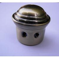 Buy cheap Coffin accessories Metal end cap bronze color from wholesalers