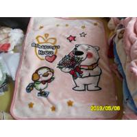China cartoon Antistatic Soft Polyester Baby Blanket Woven Blankets For Hotel / Home on sale