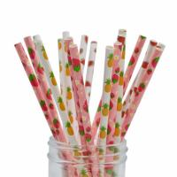 Buy cheap Smooth Cutting Biodegradable Paper Drinking Straws  Coloured Paper Straws from wholesalers