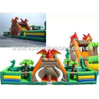China Giant Inflatable Fairground In Caribbean Pirate Ship Design For Kids Amusement Park on sale