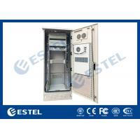 Buy cheap Single Wall Stainless Steel Heat Insulation 38U Outdoor Telecom Cabinet 750x700x2000  With DC Air Conditioner from wholesalers