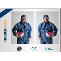 Buy cheap Polypropylene Disposable Protective Clothing / Disposable Painting Overalls With Hood from wholesalers
