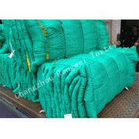Buy cheap Green Knotted HDPE Fishing Net Monofilament / Multifilament Decorative Fish Netting from wholesalers