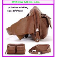 Buy cheap PU leather waist bag, waist belt bag, customized waist bag from wholesalers