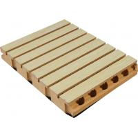 Buy cheap Soundproof Wooden Grooved Acoustic Panel For Cinema / Wood Wall Covering from wholesalers