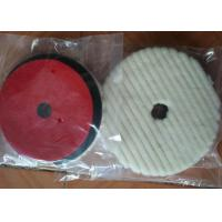 China Lamb Sheep Skin Wool Car Polishing Pads With 1cm - 2.5 Cm Sponge Thickness on sale