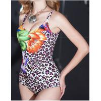 Buy cheap high quality Leopard print conservative one-piece  plus-size swimsuit  for women  Triangle one-piece from wholesalers