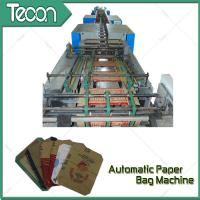 Buy cheap Bevel Gear Full Automatic Paper Bag Making Machine with Siemens Screen Control from wholesalers