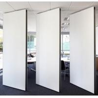 Buy cheap White Wooden Acoustic Partition Wall For Conference Room / Sound Proof Movable Wall Dividers from wholesalers
