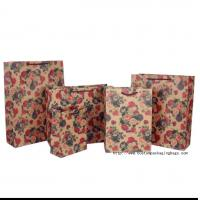 Buy cheap Die Cut Shopping Wrapping Paper Bag Recyclable Customized Logo Offset Printing product