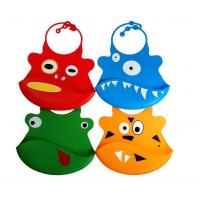 Buy cheap Silicone baby bibs With a built in crumb catcher and adjustable clasp from wholesalers
