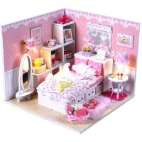Buy cheap Dollhouse, DIY Lights House, Miniature Set, Romantic Full House from wholesalers
