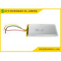 Buy cheap Silver Color High Capacity Lithium Polymer Battery 6800mah LP9550110 LI Ion from wholesalers