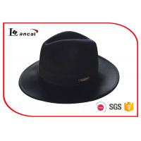 Buy cheap Wool Felt Cowboy Hats / Black Cowboy Hat With Customized Metal Label from wholesalers